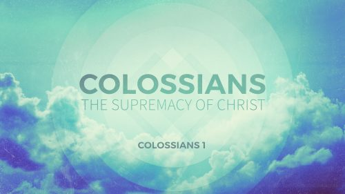 Colossians: Spiritual Maturity
