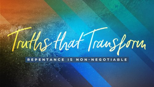Repentance is Non-Negotiable